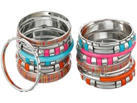 Gypsy Soule 16 Bangle Set Red Orange Pink Turquoise Bracelet Multi