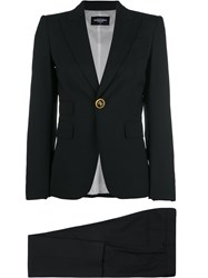 Dsquared2 Tailored Fitted Suit Virgin Wool Spandex Elastane Polyester Black