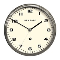 Newgate Chrysler Wall Clock Burnished Steel
