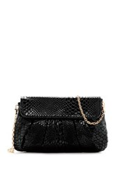Urban Expressions Juliet Snake Embossed Vegan Leather Clutch Black