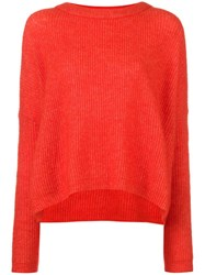 By Malene Birger Ribbed Shift Jumper Red