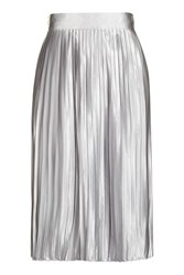 Glamorous High Waisted Pleated Skirt By Petites Silver
