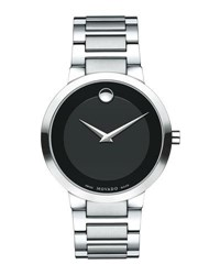 Movado 39.2Mm Modern Classic Watch Gray Black Gray Black