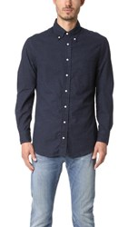 Gitman Brothers Vintage Long Sleeve Flannel Shirt Navy