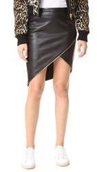 Michelle Mason Asymmetrical Skirt With Zipper Black