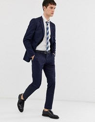 Esprit Slim Fit Suit Trouser In Navy