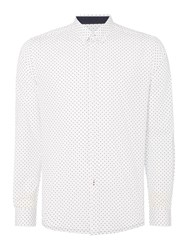 Merc Siegel Polka Dot Shirt White