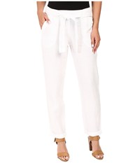 Three Dots Sherin Rolled Pants White Women's Casual Pants