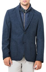 7 Diamonds Men's Transit Casual Blazer Navy