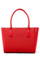 Dagne Dover Signature Classic Coated Canvas Tote Red Poppy