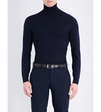 Ralph Lauren Purple Label Turtleneck Cashmere Jumper Navy 2