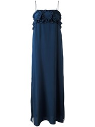 See By Chloe Long Ruched Bust Dress Blue