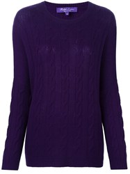 Ralph Lauren Purple Cable Knit Jumper Pink And Purple
