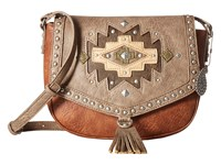 American West Earth Bound Crossbody Flap Bag Copper Stone Cross Body Handbags Brown