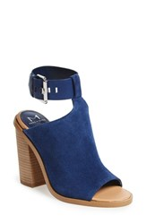 Marc Fisher Women's Fischer Ltd 'Vashi' Ankle Strap Sandal Navy Suede