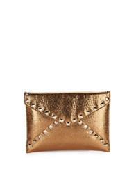 Design Lab Lord And Taylor Metallic Envelope Clutch Navy