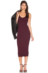 Enza Costa Rib Tank Dress Wine