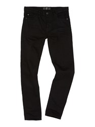 Label Lab Men's Lock Skinny Black Jean Black