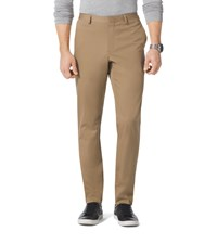 Michael Kors Mens Slim Fit Stretch Cotton Sateen Trousers