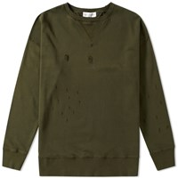 Faith Connexion Distressed Raglan Sweat Green