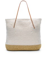 Hat Attack Twisted Colorblock Tote White
