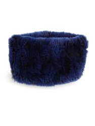 Surell Rabbit Fur Headband Collar Blackberry