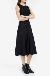 Proenza Schouler High Waist Laced Up Skirt Black