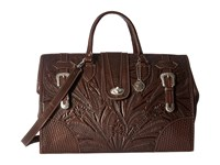 American West 30Th Anniversary Commemorative Collection Large Coach Bag Chestnut Brown Bags