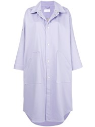 Reality Studio Oversized Single Breasted Coat Pink And Purple