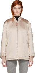 Alexander Wang T By Pink Nylon Bomber Jacket