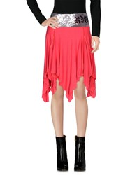 Richmond Denim Mini Skirts Coral