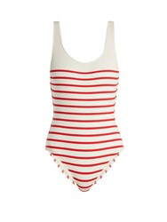 Solid And Striped The Anne Marie Scoop Back Swimsuit Red Stripe
