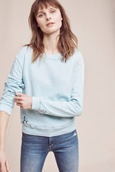 Anthropologie Laced Terry Sweatshirt Mint