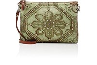 Campomaggi Women's Studded Shoulder Bag Green