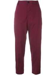 Barena Cropped Trousers Red