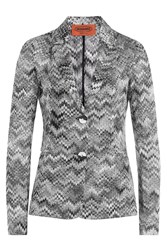 Missoni Chevron Knit Blazer Multicolor