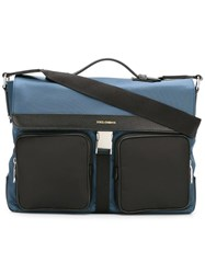 Dolce And Gabbana Flap Messenger Bag Blue