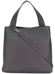 Orciani Logo Plaque Tote Grey