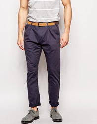 Boss Orange Trousers With Self Pattern Navy