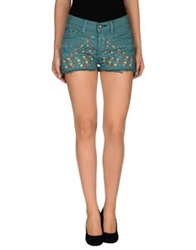 Htc Denim Shorts Deep Jade