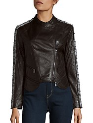 Haute Hippie Lamb Leather Jacket Black