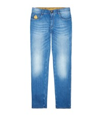 Billionaire Light Wash Slim Jeans Male Blue