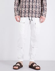 Undercover Relaxed Fit Cotton Blend Trousers Ivory