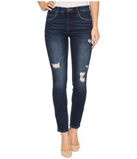 Blank Nyc High Rise Destructed Skinny In Modern Vice Modern Vice Women's Jeans Blue