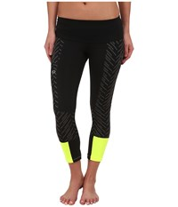 Pearl Izumi Flash 3 Qtr Run Tights Black Black Print Women's Workout