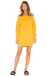 Ivy Park Blouson Bardot Sweat Dress Mustard