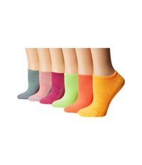 Hue Recycled Cotton Liner Punk Pack Women's Crew Cut Socks Shoes Multi