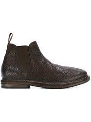 Marsell Textured Chelsea Boots Brown