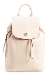 Tory Burch 'Brody' Leather Drawstring Backpack Beige Light Oak
