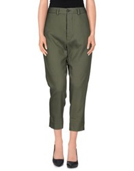 True Tradition 3 4 Length Shorts Military Green